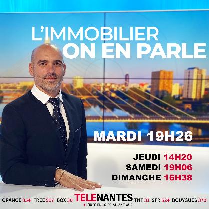 Vincent Perrocheau, conseil immobilier à Nantes, anime l'émission de Télé Nantes sur l'immobilier