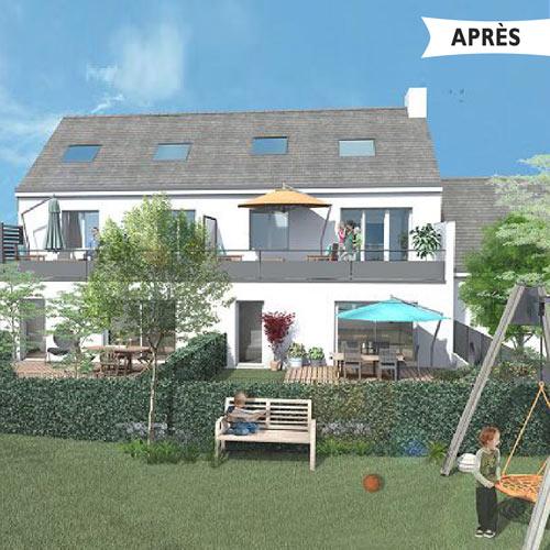 immobilier à Saint Herblain en Loire-Atlantique - investir dans l'ancien avec avantages fiscaux - Pinel réhabilitation